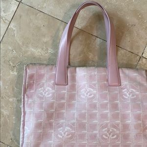 Gorgeous Pink Chanel Fabric Bag